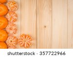 tangerines on a wooden table | Shutterstock . vector #357722966