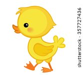 Cute Cartoon Duckling Is...