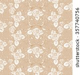 romantic seamless pattern with... | Shutterstock .eps vector #357740756