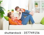 happy family mother and child... | Shutterstock . vector #357749156