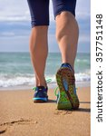 woman's legs  runner's legs... | Shutterstock . vector #357751148