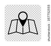 map    black vector icon