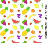 seamless vector pattern with... | Shutterstock .eps vector #357754502