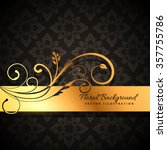 Premium Golden Floral Background