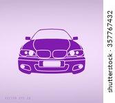 violet car vector icon | Shutterstock .eps vector #357767432