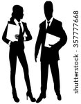 business people with folders    Shutterstock .eps vector #357777668