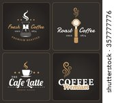 set of coffee shop badges and... | Shutterstock .eps vector #357777776