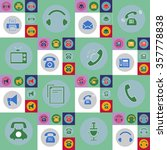 set of contact  icon  eps 10 | Shutterstock .eps vector #357778838