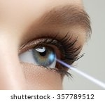 laser vision correction. woman... | Shutterstock . vector #357789512