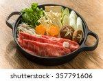 sukiyaki with high quality... | Shutterstock . vector #357791606