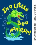 sea monster splashing in some... | Shutterstock . vector #357794456