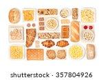 breakfast cereals on white... | Shutterstock . vector #357804926