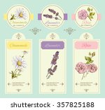 vector vintage template banner... | Shutterstock .eps vector #357825188