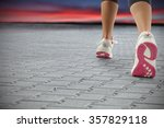 sport shoes of red and white... | Shutterstock . vector #357829118