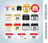 calendar icons set. calendar...