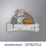 elephant illustration design... | Shutterstock .eps vector #357837512