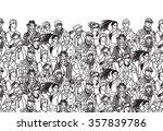 crowd of trendy people black...   Shutterstock . vector #357839786