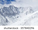 Small photo of Winter Alps - Massif des Cerces mountain range in Rhone-Alpes region of France. European snow.