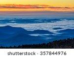 dawn over the blue ridge... | Shutterstock . vector #357844976