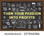 business doodle with phrase... | Shutterstock .eps vector #357846986