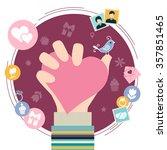 valentine's day symbols.... | Shutterstock .eps vector #357851465