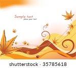 autumn. vector background | Shutterstock .eps vector #35785618