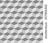 monochrome abstract 3d... | Shutterstock .eps vector #357856502