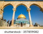 Dome Of The Rock Mosque On...