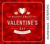 valentine's day greeting card... | Shutterstock .eps vector #357859292