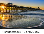 Incoming Tide At Folly Beach...