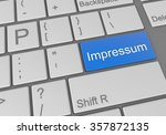 keyboard with a word impressum | Shutterstock . vector #357872135