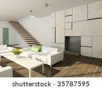 modern design interior of...   Shutterstock . vector #35787595