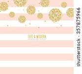 Modern Chic Pink Gold Vector...