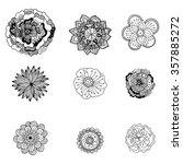 hand drawn zentangle doodle... | Shutterstock .eps vector #357885272