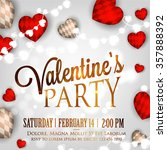 valentine's day party... | Shutterstock .eps vector #357888392