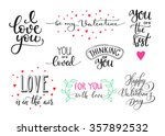 romantic valentines day... | Shutterstock .eps vector #357892532