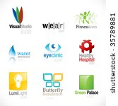 set of nine unique icons | Shutterstock .eps vector #35789881