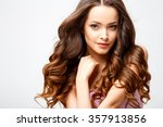 close up portrait of beautiful... | Shutterstock . vector #357913856