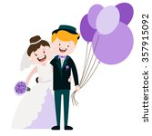 loving couple   wedding  vector ... | Shutterstock .eps vector #357915092