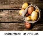 raw potato food . fresh...