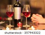 Closeup Of Wine Glasses In A...