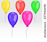color glossy balloons... | Shutterstock .eps vector #357944498