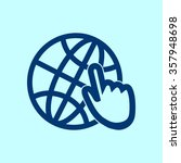 globe icon. flat design. | Shutterstock .eps vector #357948698
