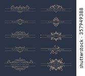 set of decorative borders for...   Shutterstock .eps vector #357949388