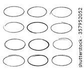 vector hand drawn black circle... | Shutterstock .eps vector #357952052