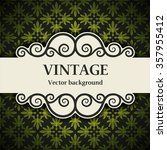 vintage vector background | Shutterstock .eps vector #357955412