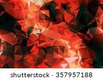 abstract red crystal background.... | Shutterstock .eps vector #357957188