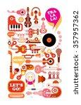 music vector illustration.... | Shutterstock .eps vector #357957362
