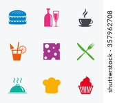 food  drink icons. coffee and... | Shutterstock . vector #357962708