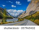 the bow river canyon in... | Shutterstock . vector #357965432